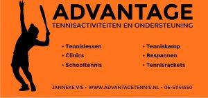 Advantage Tennisactiviteiten Reclamedoek